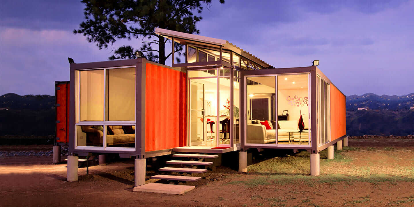 out of the box will the shipping container home meet the