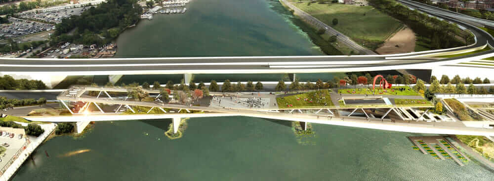 future bridges anacostia crossing aerial