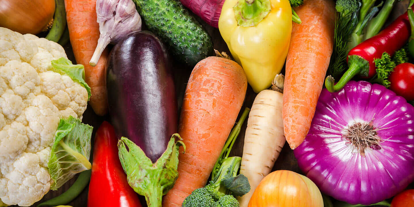 Assortment of colorful vegetables